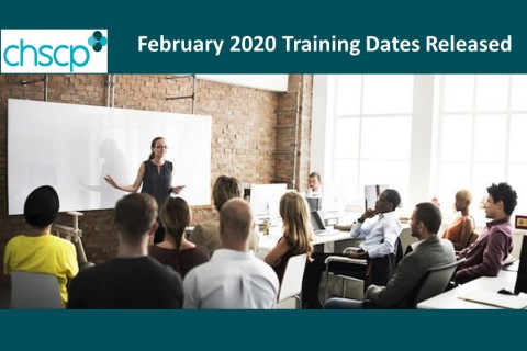 February 2020 Training dates released